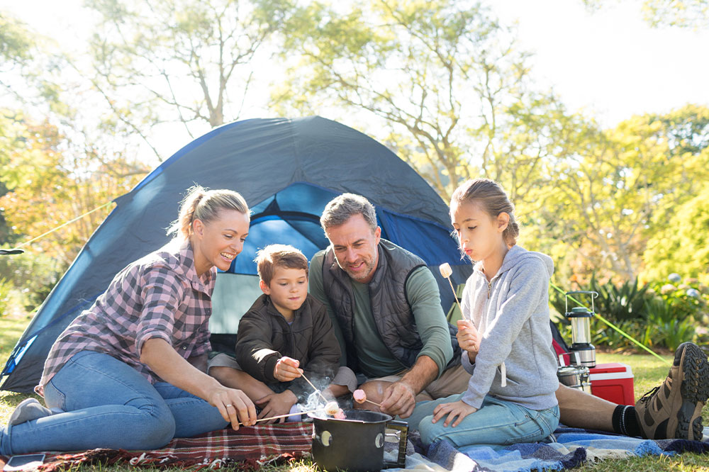 Camping-Familie